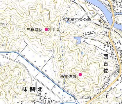 西古佐-地図