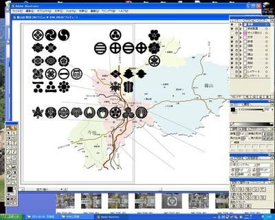 篠山家紋マップ