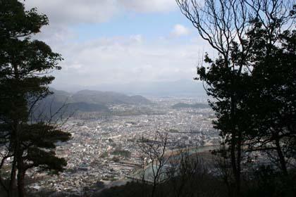嵐山-京都遠望