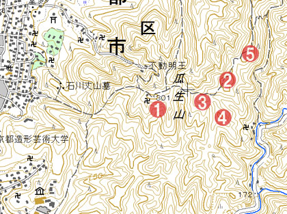 北白川-城址マップ